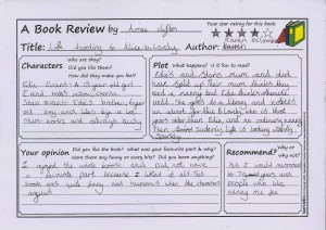 woolsery primary school book review competition year 5